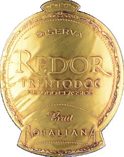 Eticheta TrentoDoc Redor brut Riserva 2009 Cantina Rotaliana