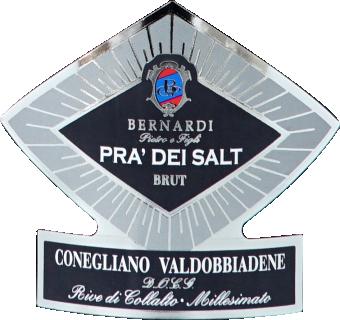 Eticheta vin spumant Prosecco Pra' dei Salt brut DOCG 2018 Bernardi