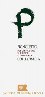 Eticheta vin alb Colli d'Imola Pignoletto DOC 2014 Fattoria Monticino Rosso
