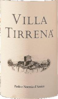 Eticheta Villa Tirrena merlot 2011 Paolo e Noemia d'Amico