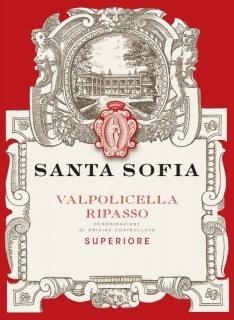 Eticheta Valpolicella Ripasso superiore DOC 2016 Santa Sofia