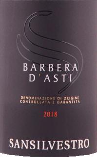 Eticheta Barbera d'Asti DOCG 2018 Sansilvestro