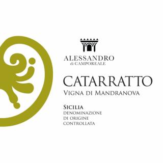 Catarratto vigna Mandranova BIO 2017 Alessandro di Camporeale - eticheta