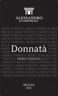Donnata Nero d'Avola BIO DOC 2018 Alessandro di Camporeale - eticheta