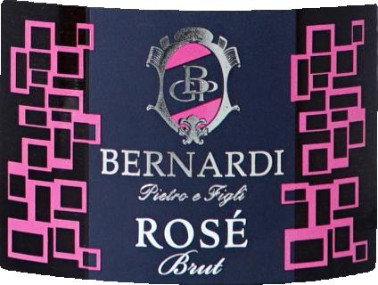 Prosecco brut rose DOC 2018 Bernardi - eticheta