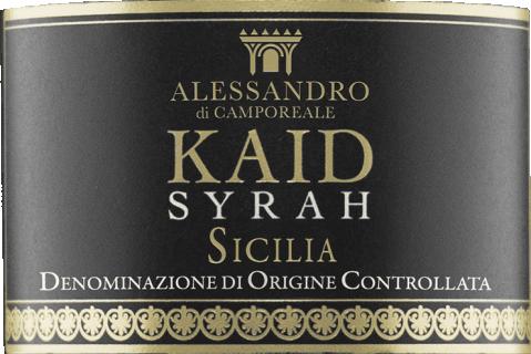 Kaid Syrah BIO DOC 2017 Alessandro di Camporeale eticheta