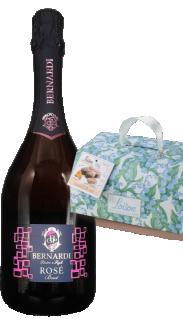 Vin spumant brut rose DOC 2018 Bernardi + Cozonac italienesc Colomba Classica Fantasia 750g Loison