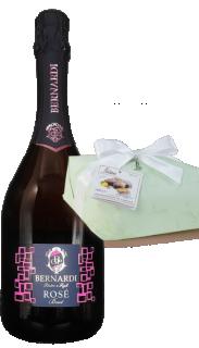 Vin spumant brut rose DOC 2018 Bernardi + Cozonac italienesc Colomba Classica Royal 1000g Loison