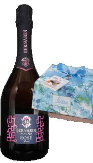 Vin spumant brut rose DOC 2018 Bernardi + Cozonac italienesc Colomba Classica Evasione 750g Loison